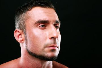 Closeup portrait of a pensive man
