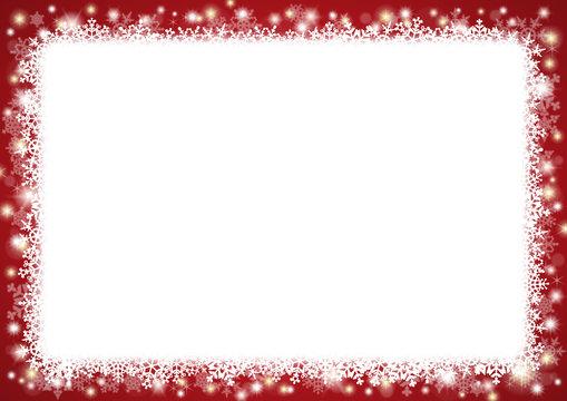 Weihnachtlicher Schneeflocken-Hintergrund im Querformat, rot