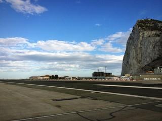 Start- und Landebahn vom Flughafen Gibraltar