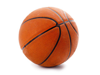 An official orange basketball isolated over white