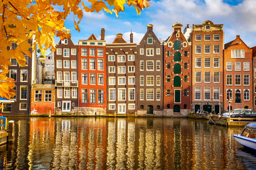 Canvas Prints Amsterdam Old buildings in Amsterdam