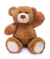 Sweet teddy bear waving his paw - fototapety na wymiar