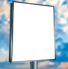 Wall Mural - Blank vector billboard advertisement, empty screen