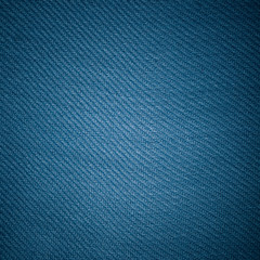 Closeup of blue fabric textile material as texture or background