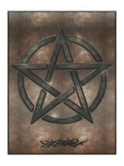 Pentagramm Metallplatte Ornament