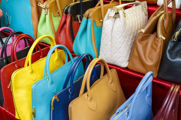 colored handbags