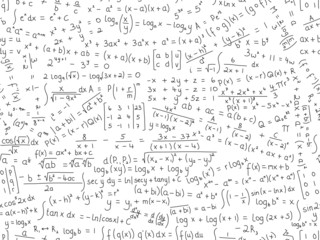 MATHEMATICAL EQUATIONS seamless pattern (math maths formulae)