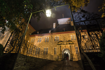 castle schnellenberg in germany at night