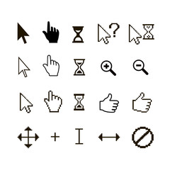 set of different mouse cursors