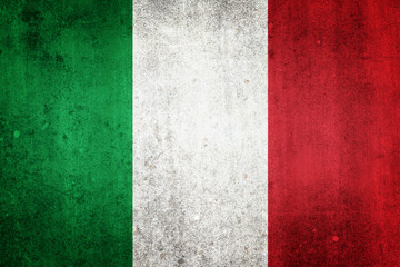 National flag of Italy. Grungy effect.