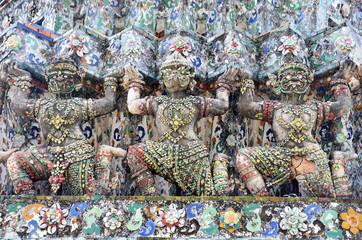 Carved and sculpture giant guardian of Wat Arun ratchawararam