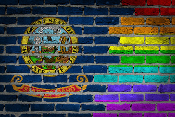 Dark brick wall - LGBT rights - Idaho