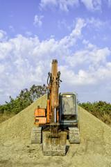 Parked Excavator