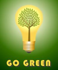 Go green concept.