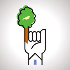 save tree concept