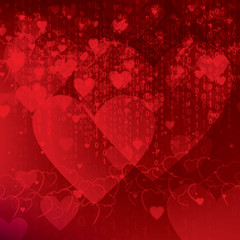 concept of valentine background in social networks
