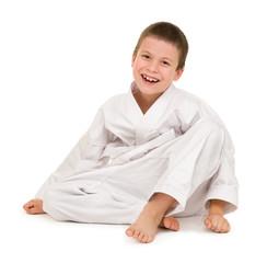 Foto op Aluminium Vechtsport boy in clothing for martial arts