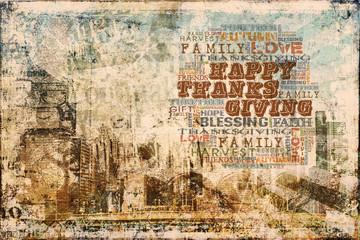 Happy Thanksgiving Grunge Background