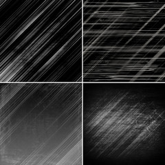 set of dark background, illustration