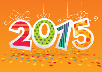 Vector card for New Year or Christmas 2015