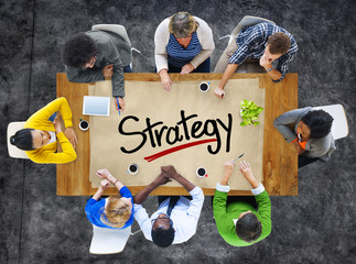People in a Meeting and Strategy Concepts