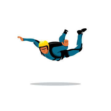 Skydiving vector sign