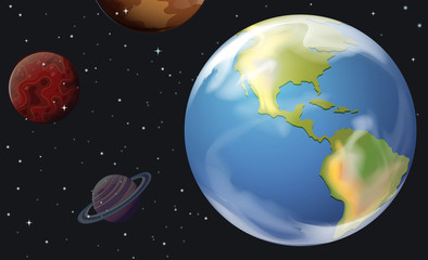 Planets in the outerspace