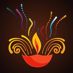beautiful diwali diya background