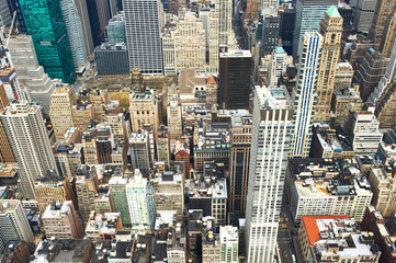 Cityscape view of Manhattan from Empire State Building