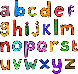 Whimsical Lowercase Alphabet