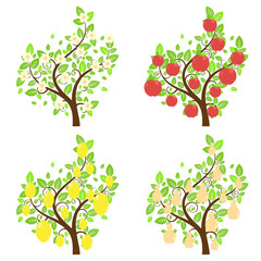 Stylized Fruit Trees