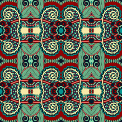 Garden Poster Moroccan Tiles seamless geometry vintage pattern, ethnic style ornamental backg