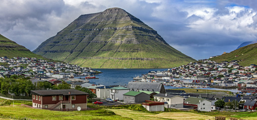 Klaksvik, Faroe Island,panoramic view