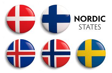 Nordic Scandinavian Flags