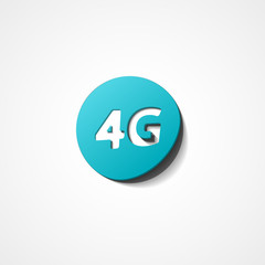 Four G latest wireless communication web icon