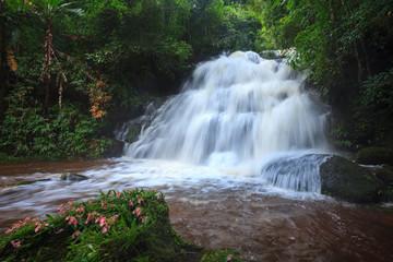 Mhundaeng waterfall Phu Hin Rong Kla; National Park at Phitsanul