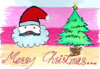 Christmas's Day with Santa Claus painting