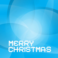 Abstract Blue Vector Merry Christmas Background