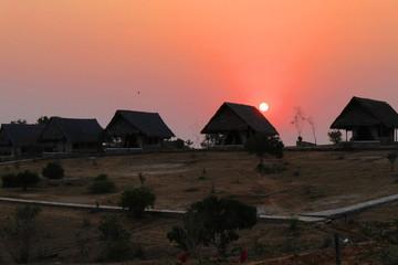Sunset in Safari Camp - Safari Kenya