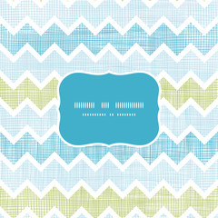 Fabric textured chevron stripes frame seamless pattern