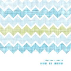Fabric textured chevron stripes horizontal frame seamless