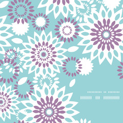 Purple and blue floral abstract frame corner pattern background