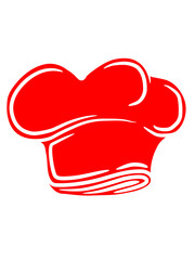 Rote Chefkoch Kochmütze