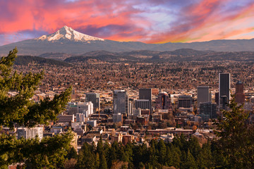 Beautiful Vista of Portland, Oregon Wall mural