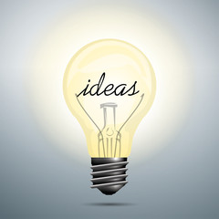 Creative idea in bulb shape as inspiration concept.