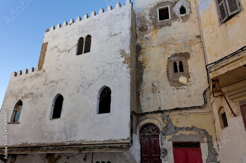 Fa Ades De Maisons Anciennes Tanger Maroc Stock Photo And Royalty Free Images On