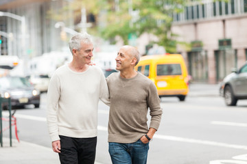 Gay Couple Walking in New York