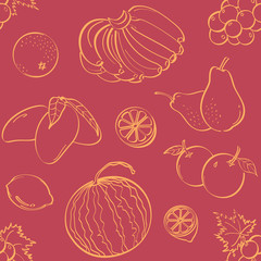 Fruits Seamless Background