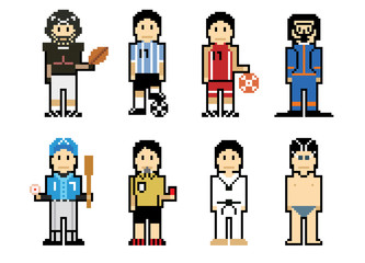 Pixel People Icons (Athlete)