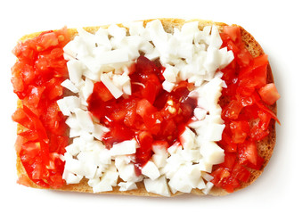Sandwich with flag of Canada Isolated on  white